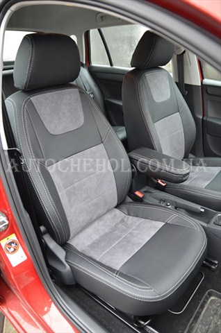 Качественные чехлы для Skoda Rapid Spaceback, Leather StyLe, MW Brothers
